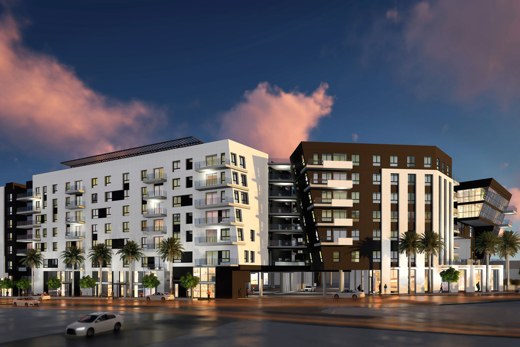 The Rise Hollywood Exterior Rendering